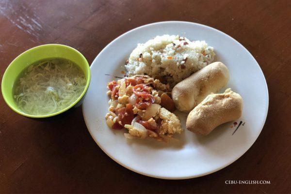 フィリピン留学学校の朝食